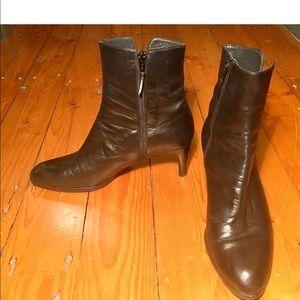Stuart Weitzman black ankle boots